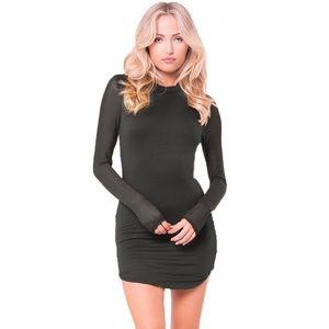 Black Mesh Sleeve Mini