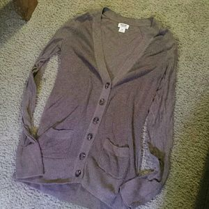 Mossimo supply brown cardigan with pockets small