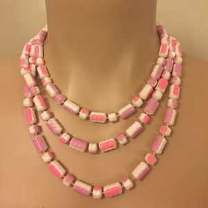 Vintage Kitsch Retro Celluloid Candy Bead Necklace