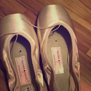 Russian pointe ballet shoes.