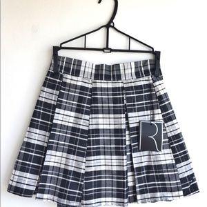 Reformation shadow taffeta mini skirt new