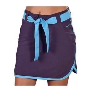 Nike Dri Fit Purple/Blue Golf Performance Skirt