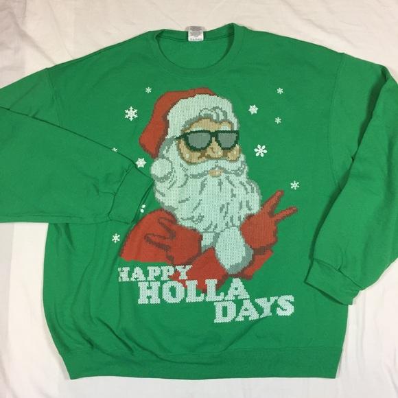 cool santa ugly christmas sweater