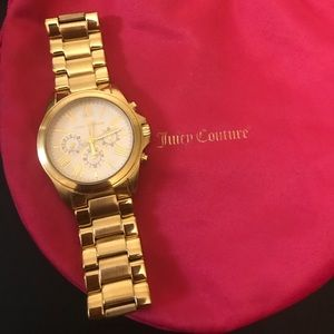 Juicy Couture Gold Rich Girl Watch !!Gold Solid