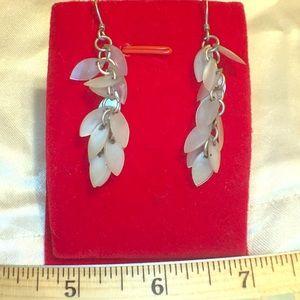 MOP Dangle Earrings silver hooks