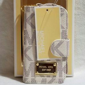 Mk case/wallet iPhone 5/5s beige