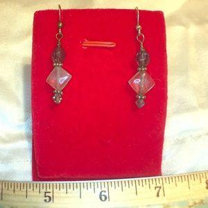 Handmade natural stones Earrings silver hooks