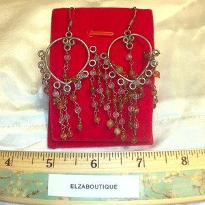 Handmade carnelian Earrings silver hooks