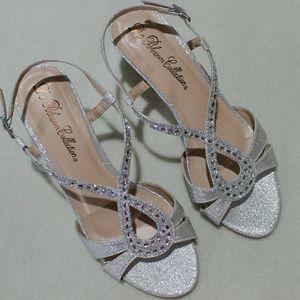 De Blossom Collection Silver Bling Formal Heels