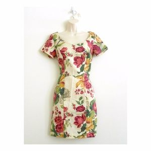 New RAMPAGE Dress Fitted Romantic Floral Tea Stain