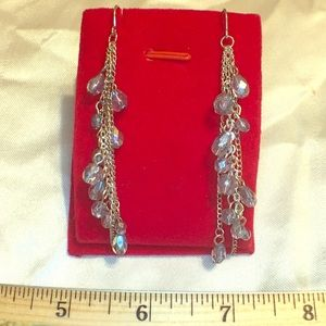 Handmade briolettes Dangle Earrings silver hooks