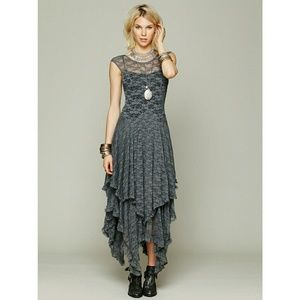 Free People Grey French Courtship Dress