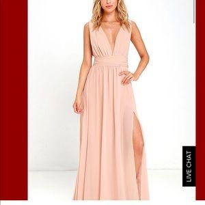 Lulus brand new Maxi dress