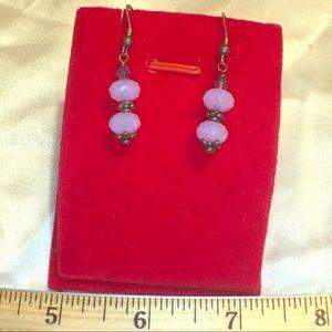 Handmade opalescent Earrings silver hooks