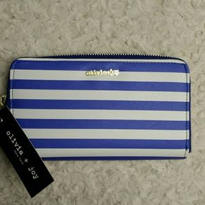 Olivia and Joy NY NWT Blue Striped Wallet