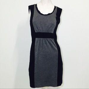 Banana Republic Black & Gray Block Career Dress!