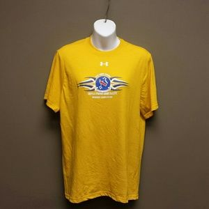 NEW Under Armour Yellow Army Strong Tee Shirt, S