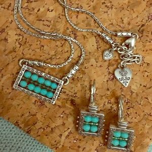 Brighton Turquoise necklace & earrings set
