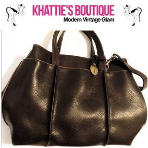 Liz Claiborne Villager brown vegan leather purse