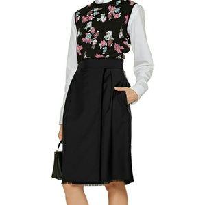 Thom Browne Knee-Length Wrap Wool Skirt