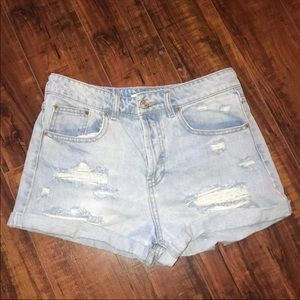 Distressed shorts from forever 21