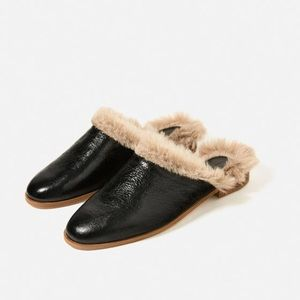 Zara lined leather mules