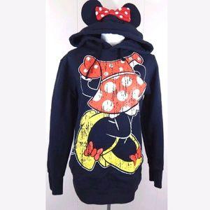 Disney Parks Minnie Mouse Ears Hoodie