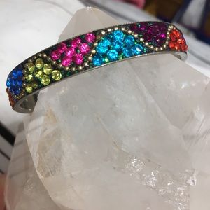 Pave Bracelet With Multicolored Bright Crystals