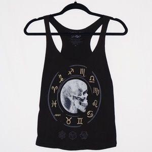 🌔Moon Skull/Zodiac Urban Outfitters Tank🌖