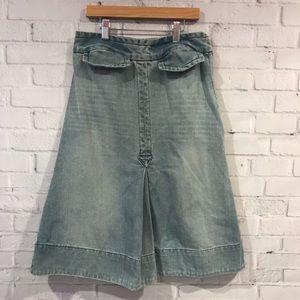 marc jacobs denim A-line midi-skirt, extra small 2