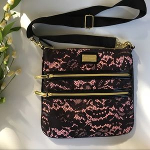 Betsy Johnson Crossbody with exterior zipper pouch