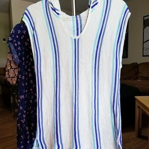 Sleeveless baja knit top