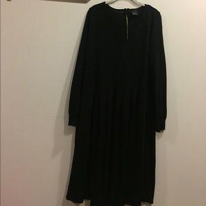 ASOS Black v-neck midi length sweater dress