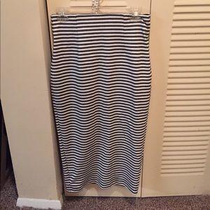 High waist banded pencil/midi skirt