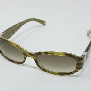 Coach Women's Lindsay Striped Tortoise Sunglasses