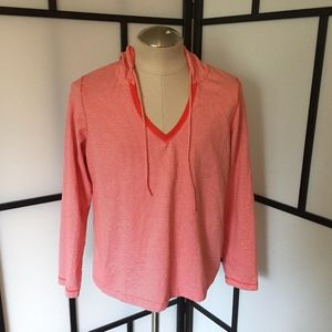 Women's Plus Lands' End 18-20 Red Striped Tunic