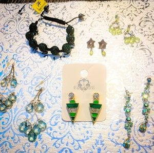 💚 Green with Envy Earrings & Bracelet Bundle💚