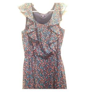 Gap - Floral Mid Length Dress with Ruffles