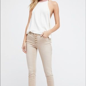 Free People Reagan button fly skinny jeans