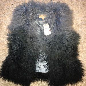 Michael Kors Mongolian Lamb Fur Vest Ombré