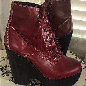 Jeffrey Campbell Handmade Red Platform Boots