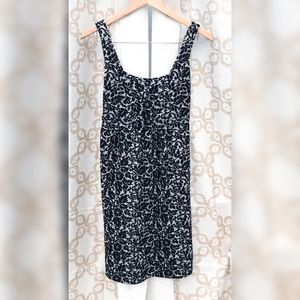Diane Von Furstenberg Black & Silver Floral Wool