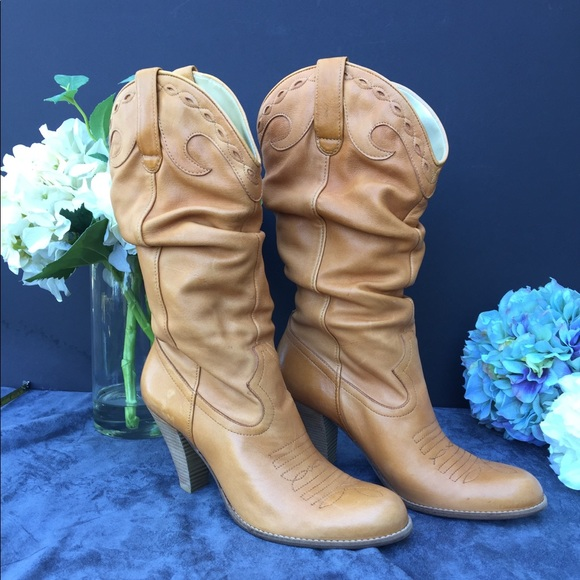 96151677037 Jessica Simpson leather boots size 10