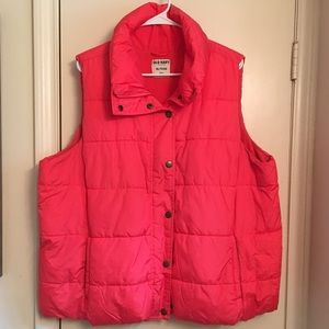 Old Navy Pink/Coral Puffy Vest