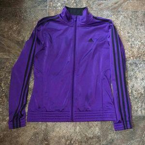 NWOT Bright purple Adidas jacket
