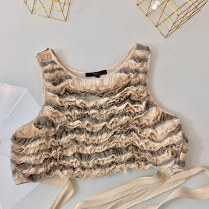 🐚ASOS Crop Textured Top