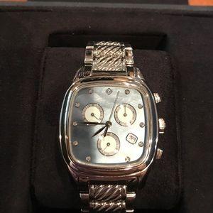 david yurman menu0027s mother of pearl diamond watch