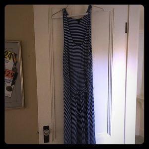 JCREW maxi dress - blue and white striped