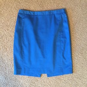 Express Bold Blue Pencil Skirt