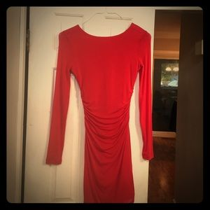 Red long sleeve Guess dress